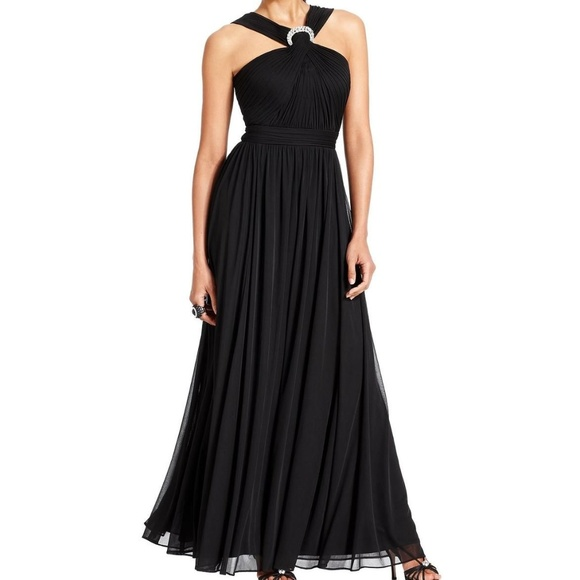 Alex Evenings Dresses & Skirts - NWT Jeweled Brooch Halter Gown Sz 8